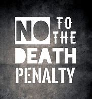 no to the death penalty message