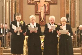 2018 jubilarians singing