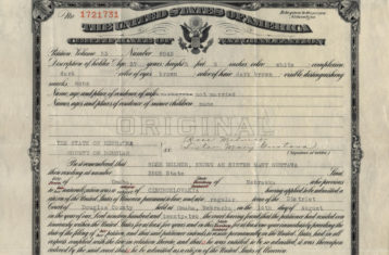 archive photo of usa certificate of naturalization