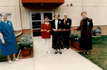 archive photo of ribbon cutting