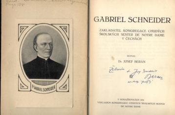 gabriel schneider book and 1933 altar