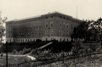 black and white photo of notre dame academy