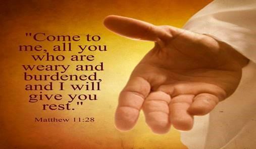 religious graphic featuring matthew 11:28