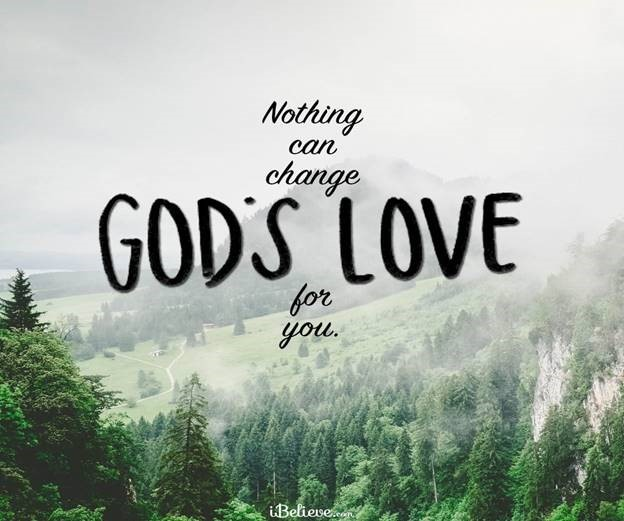 scenic photo with gods love message
