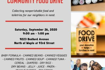 catholic charities community food drive flyer