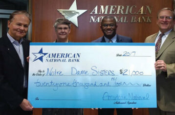 american national bank check for notre dame sisters