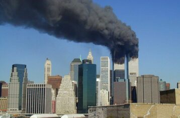 smoke billowing from buildings