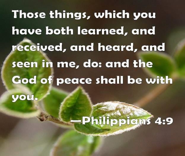 graphic featuring philippians 4:9